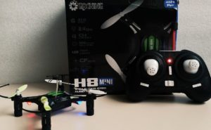 photo of h8 mini, controller, and box